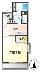 ウイング21[4階]の間取り