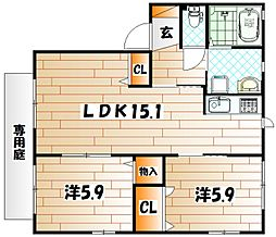 リンデンバーム B棟[1階]の間取り
