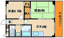 フローラルハイツダイキI[2階]の間取り