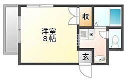 兵庫県神戸市垂水区高丸3丁目の賃貸アパートの間取り
