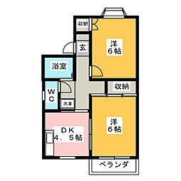 マンハイム笹野 D棟[1階]の間取り