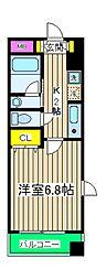 コフレ横浜星川[501号室]の間取り