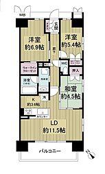 リビオ堺ステーションシティ[7階]の間取り