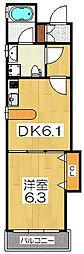 K'z ALLAY[5階]の間取り