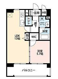 JR大阪環状線 大阪駅 徒歩8分の賃貸マンション 2階1LDKの間取り