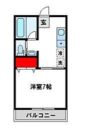 ラリーグラス22[6階]の間取り