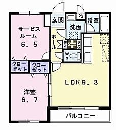 ファミーユハイツ[2階]の間取り