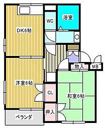サンVパーク5[2階]の間取り