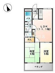 岡山県倉敷市安江の賃貸アパートの間取り