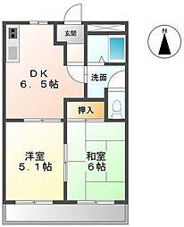 メゾンクレストール[2階]の間取り