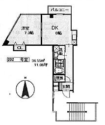 泉涌寺HIRANOマンション[202号室号室]の間取り