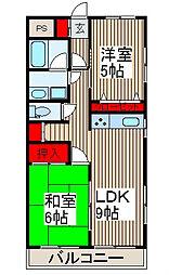 西沢マンション[1階]の間取り