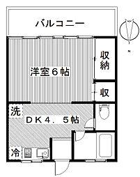 ハイツフレンド玉村斉田[2階]の間取り