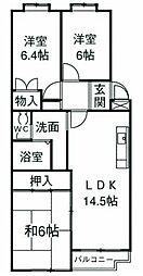 サンモール湘南[1階]の間取り
