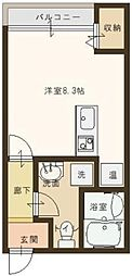 EXES篠尾[1階]の間取り