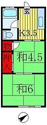 新井マンション[302号室]の間取り