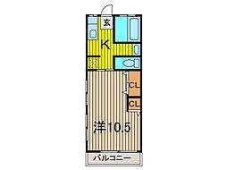 沼尾マンション[2階]の間取り