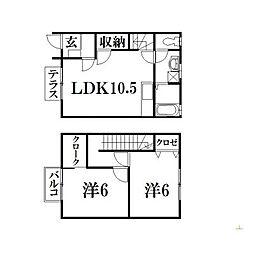 [テラスハウス] 静岡県浜松市中区上島7丁目 の賃貸【/】の間取り