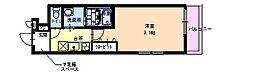 フジパレスヴィレッジ白鷺 1階1Kの間取り