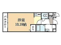 サジタリアス京田辺[1階]の間取り