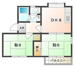 メゾン舞A棟[1階]の間取り