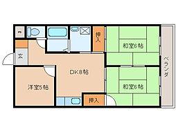 徳和マンション・[4階]の間取り