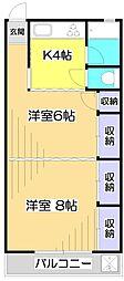 清水マンション[4階]の間取り