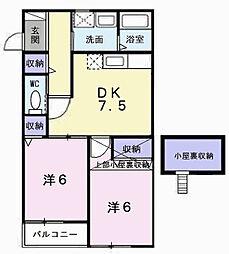 シャルマンホームA[2階]の間取り
