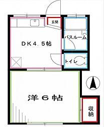 傘風子(サンフウシ)[2階]の間取り