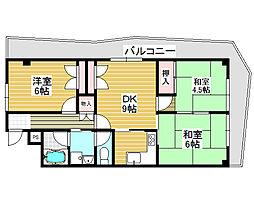 ターミナルマンション朝日プラザ堺[8階]の間取り