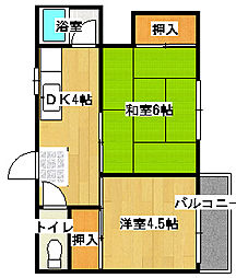 ISE伊勢住宅鳳西 6803[402号室]の間取り