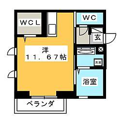 仮)D-room若松町 1階ワンルームの間取り