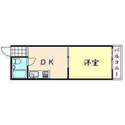 ニューライフ赤坂[807号室]の間取り