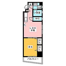 黒川祇園ビル[6階]の間取り