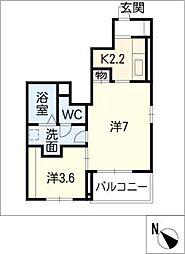 ウエルト[1階]の間取り
