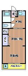 メゾン矢嶋[1階]の間取り