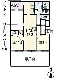 ライオンズマンション虹ヶ丘E棟123号[1階]の間取り