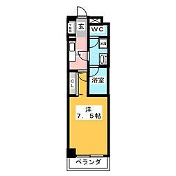 meLiV鶴舞[4階]の間取り