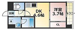 ライブガーデン新大阪II[4階]の間取り