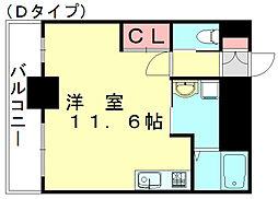 JR篠栗線 篠栗駅 徒歩5分の賃貸マンション 7階ワンルームの間取り