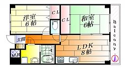 フォーロハーモネート[4階]の間取り