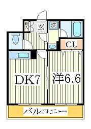 アメニティ富里[4階]の間取り