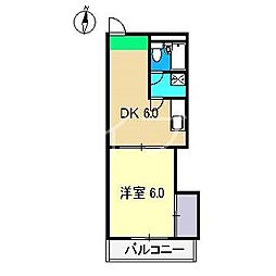 ドルフ高須[4階]の間取り