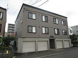 北海道札幌市東区北四十四条東14丁目の賃貸アパートの外観