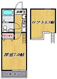 コモハイツ宮崎台[302号室号室]の間取り