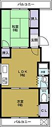 船田マンション[4階]の間取り