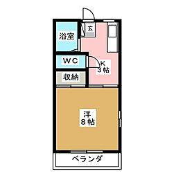 クレスト[1階]の間取り