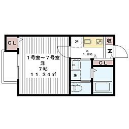 アージュドール桜木[2階]の間取り