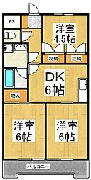 JUN谷戸ハイツ[5階]の間取り