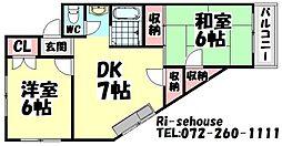 メゾンクリエ鳳[101号室]の間取り